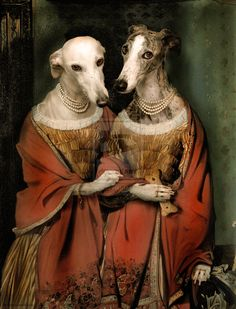 Spinster Siters - Pet Portraits, Custom pet art by european artist Valerie Leonard Victorian Portraits, Dog Artist, Greyhound Art, Bear Art, Animal Heads, Dog Paintings, Horse Love, Dog Portraits, Caricature