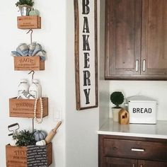 Add farmhouse charm to your space with our VIntage Herb Box Set. Use these hanging garden boxes indoor or outdoor to transform any barren space into a focal point. Modern Farmhouse Kitchens, Farmhouse Decor, Rustic Decor, Farmhouse Ideas, Rustic Style, Farmhouse Style, Hanging Herbs, Hanging Gardens, Country Living Magazine