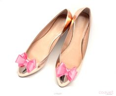 Kokardki 3D Hot Pink - Klipsy, Spinki i Ozdoby do Butów, Dodatki do Obuwia - Coquet Bow Shoes, Shoe Clips, Salvatore Ferragamo, Pink Bows, Flats, Hot, Fashion, Shoes, Loafers & Slip Ons