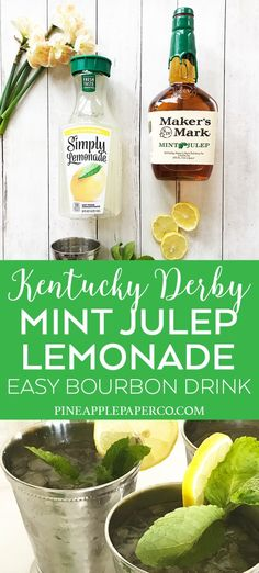 Mint Julep Recipe Pitcher, Classic Mint Julep Recipe, Mint Julep Recipes, Kentucky Derby Drinks, Bourbon Kentucky, Kentucky Derby Party Ideas, Derby Recipe, Mint Lemonade, Margaritas