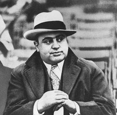 On February 14, 1929, seven men associated with the North Side Gang in Chicago were lined up against a wall and shot by men disguised as police. Al Capone was behind the attack but denied all knowledge of it. None of the gunmen ever went to jail.