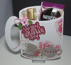 Valentine Crafts, Valentine Day Gifts, Kids Crafts, Crafts To Make, Nursing Home Activities, Valentine's Day Gift Baskets, Coffee Cards, Mothers Day Crafts For Kids, Marianne Design