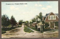 WEST HAVEN, CT ~ PROSPECT AVE. ~ PROSPECT BEACH ~ CIRCA 1910s  (Ebay)