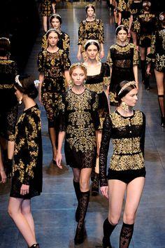 Dolce and Gabbana F/W 2012 RTW, finale
