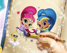 Free Coloring Pages Shimmer And Shine : Shimmer and shine coloring book page genie shine coloring book
