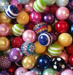 $6.85 Check out this item in my Etsy shop https://www.etsy.com/listing/226258956/20mm-party-mix-bubblegum-bead