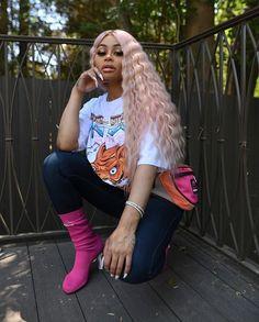 bomb bih 😍💗 Angela Renee White, Blac Chyna, Miami Fashion, Celebs, Celebrities, Hair, Instagram, Style, Outfits