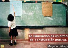 Grandes palabras de la autora de Persépolis, Marjane Satrapi. http://www.librosyliteratura.es/persepolis-de-marjane-satrapi.html