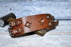 Men leather bracelet Johnny Depp style by GOMAleatherwork on Etsy