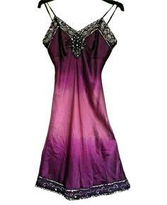 Purple Dress 100% Silk Ombre Lace Jewel Trim Sz 10/12 Definitions Strappy Shift Blue Lace, White Lace, Whistles Dresses, Sheath Dress, Bodycon Dress, Pencil Dresses Uk, Size 16 Dresses, Beaded Lace, Purple Dress