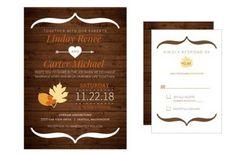 WeddingInvitationsJournal.com   Rustic Fall Wedding Invitations   http://www.weddinginvitationsjournal.com