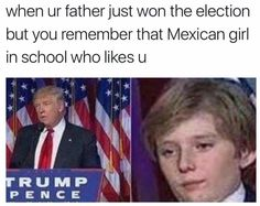 When I was watching this, all I was paying attention to was the kid and my family was making fun of trumps family bc they are all beautiful but then there is trump XD Funny Shit, Funny Posts, Funny Stuff, Random Stuff, Really Funny, The Funny, You Are The Father, Just For You, Donald Trump