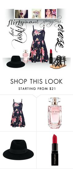 """spring fling"" by ravinap on Polyvore featuring Ally Fashion, Elie Saab, Maison Michel, Smashbox and Mystique"