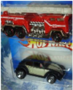 Hot Wheels 5 Alarm Fire Truck  Vw Beetle 5 Spoke Scale 164 -- To view further for this item, visit the image link.