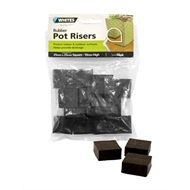 Whites 25mm Rubber Pot Riser Sq 16 Pack Planter Accessories
