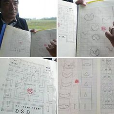 Toru Iwatani shows his original drafts for Pac-Man.