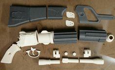 DIY printed Boba Fett scale blaster replica prop from Star Wars mk-II