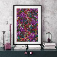 SOLD Poster Floral Abstract StainedGlass! http://www.zazzle.com/poster_floral_abstract_stained_glass-228898301835446371 #Zazzle #Poster #Floral #Abstract #Stained #Glass #glossy #purple #red #green #print  #canvas #fineart #frame #home #decor #art #Graphic #medusagraphicart #medusa81 #artist #medusart #artwork #colorful #colors