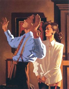Jack Vettriano (born 17 November birth name Jack Hoggan) is a Scottish painter. He did not start painting until the when a girlfriend gifted him a set of watercolors for his birthday. Jack Vettriano, Edward Hopper, Art And Illustration, The Singing Butler, Pulp Art, The Villain, Pulp Fiction, Erotic Art, Fine Art