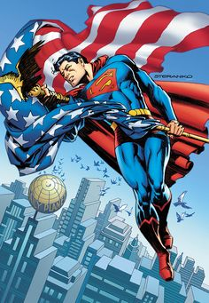 When DC Comics unveiled their through-the-decades variant covers for Action Comics celebrating 80 years of Superman, the one by Josh Middleton celebrating the was missing. Superman Comic, Superman Story, Superman Family, Batman, Spiderman, Superman Artwork, Superman News, Dave Gibbons, Character Drawing