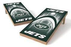 New York Jets Single Cornhole Board - Arch