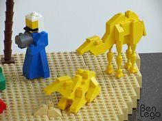 Brick-built camels. LEGO Christmas nativity scene by benlego, via Flickr. @Jenny Gregory