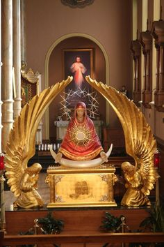 Monstrance of Our Lady of the Sign, St. Stanislaus Kostka Church, Chicago