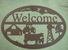 Farm Welcome Sign - Iowa Metal Art by Westphal Ironworks LLC