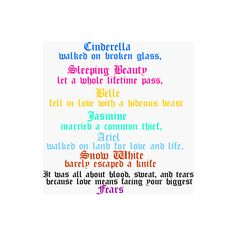 Disney Princess quote - Disney Photo (16035390) - Fanpop found on Polyvore