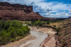 Paria River, upstream from Paria riffle in Colorado River, the official start of the Grand Canyon