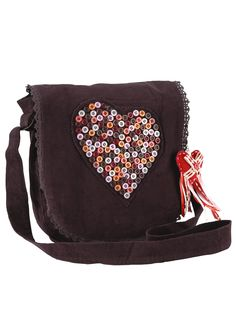 Joe Browns Cord Heart Bag I would love this bag..so cute!