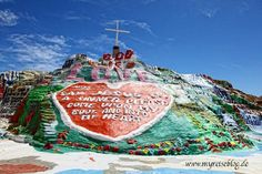 Salvation Mountain - one mans adobe masterpiece just outside Slab CIty, the worlds free-ist place.