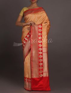 Advika Bold Paan Buttis Border Full Ornate #RealZari #BanarasiBrocadeSilkSaree