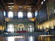 Hall of Five Hundred- Once largest room in the world. Built in 1484 as meeting hall for the Grand Council's 500 members. Cosimo I commissioned architect Georgio Vasari to enlarge the room.