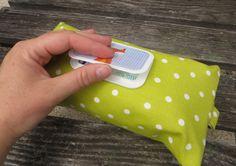 Feuchttüchertasche mit praktischem Klappverschluss, Feuchttücherhülle und Windeltasche in einem