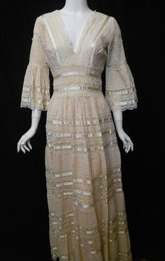 Popular vintage s mexican wedding dress large in charge dresseslux
