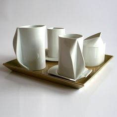 Architectural Coffee Set by Klaudia Miczán