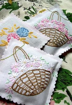 lavendar sachets from antique linens