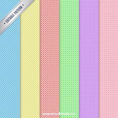 Patrones de puntos en diferentes colores Vector Gratis