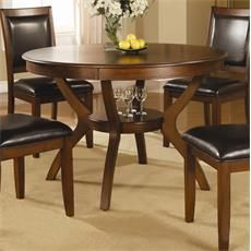Coaster Furniture 102171 Nelms Table with Shelf in Walnut