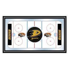 Trademark Global NHL Anaheim Ducks Framed Hockey Rink Mirror - NHL1500-AD
