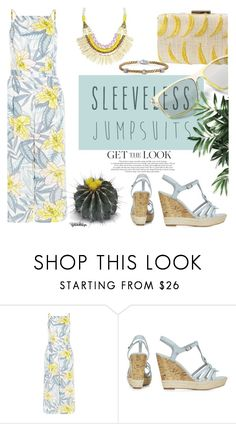 """Get the Look:  Sleeveless Jumpsuits"" by eyesondesign ❤ liked on Polyvore featuring New Look, DK, sleevelessjumpsuits and eyesondesignfashion"