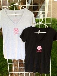 LoveBiscus Design Tee's $20 These Tees are so Soft Love God. Love Others. Love Yourself imprinted on back.  10% Donated to www.Caroline-Center.org