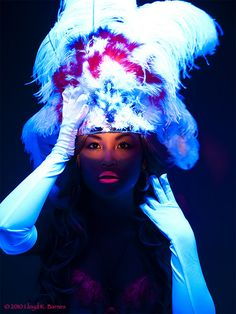 UV Reactive Blacklight makeup #makeup #spadelic #blacklight