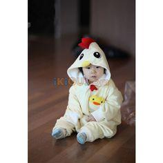 Chicken Onesie   Chicken Baby Kigurumi   Chicken Baby Costume - Baby Onesies  http://www.ikigu.com/chicken-baby-onesie.html