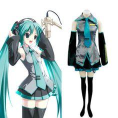 Hatsune Miku traje cosplay Vocaloid