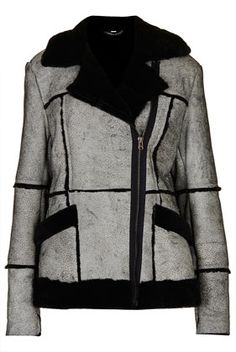 TopShop Crackle Sheepskin Coat  (love the jacket, even if I don't love the price)