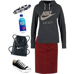 Just chill by lizardbeth95 on Polyvore featuring NIKE, Gerry Weber Edition, Under Armour and Converse