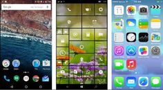 Android M, iOS9 And Windows 10 - Interface