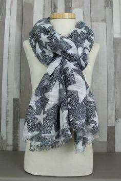 shawl star black